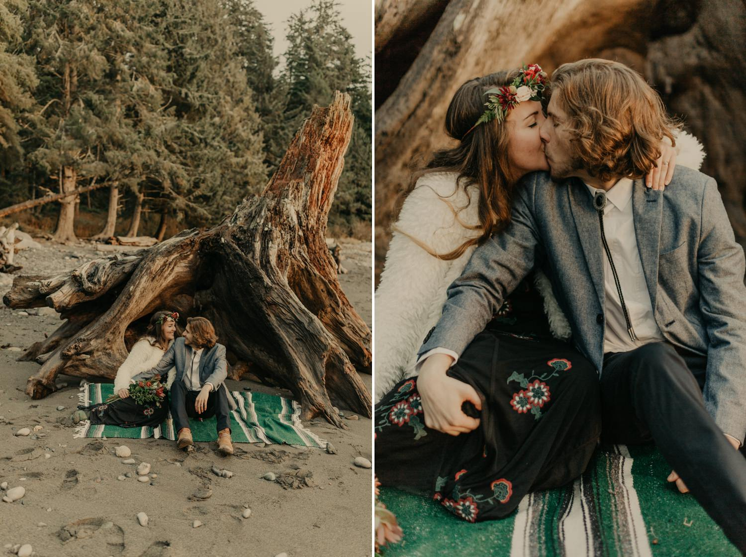 West Coast Cabin Elopement, Luke Liable  // Victoria & Vancouver Island Wedding Photographer