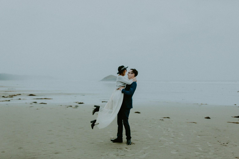 Wet Tofino Elopement, Luke Liable  // Victoria & Vancouver Island Wedding Photographer